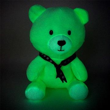 广东东莞毛绒玩具厂家直供 夜光毛绒玩具呆萌坐姿小熊