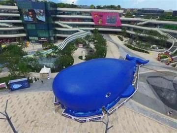 鯨魚島戶外大型充氣百萬海洋球池廠家直銷