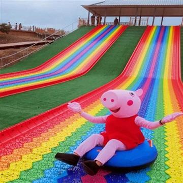彩虹滑道四季游乐滑梯 大型滑道游乐设备