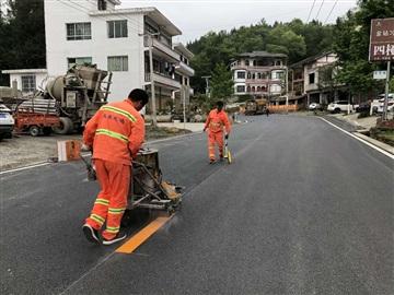 永川道路防滑坡道路面施工 重慶熱熔標線隊伍