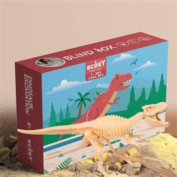 儿童男孩恐龙化石考古挖掘益智玩具骨架模型创意DIY