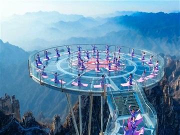 景区玻璃吊桥 3d玻璃吊桥 网红玻璃观景台