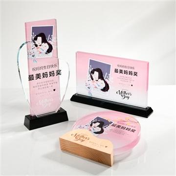 廣州畢業季紀念禮品,水晶禮品定制,母親節禮品制作