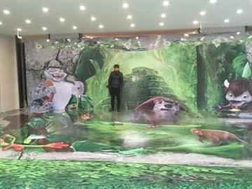 天津3D立體彩繪墻畫