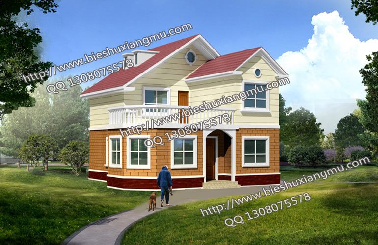 简欧两层独栋小洋楼带露台全套完整图纸,别墅设计图纸