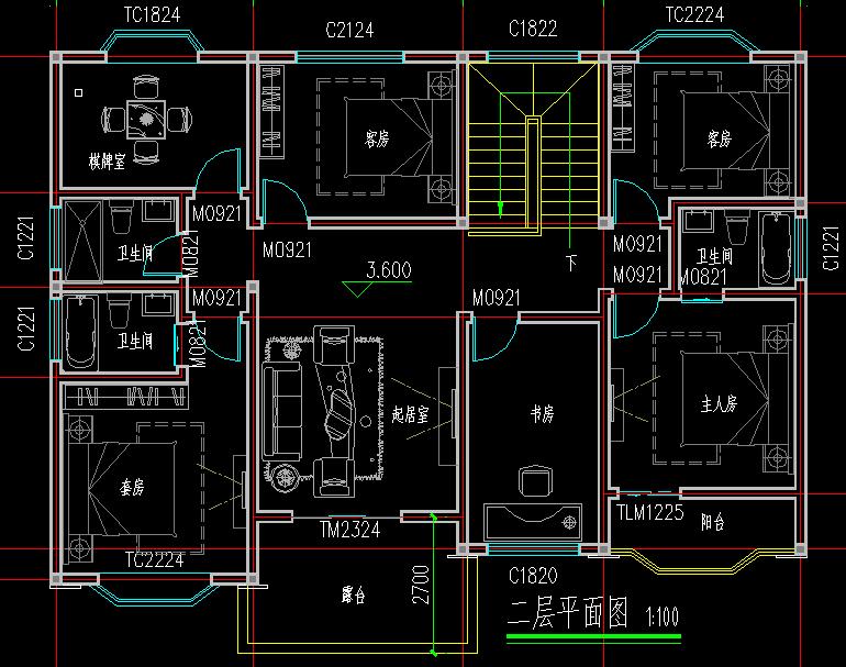 简欧二层房子设计两层住宅房屋设计图