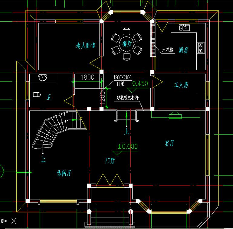 好看二层砖混结构小户型农村房子设计效果图
