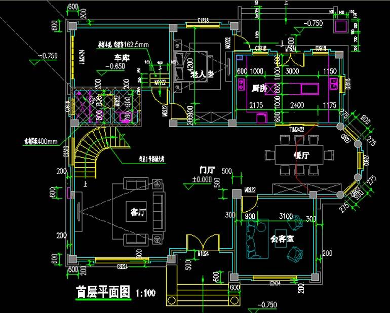 复式带阁楼三层自建房私家别墅设计方案