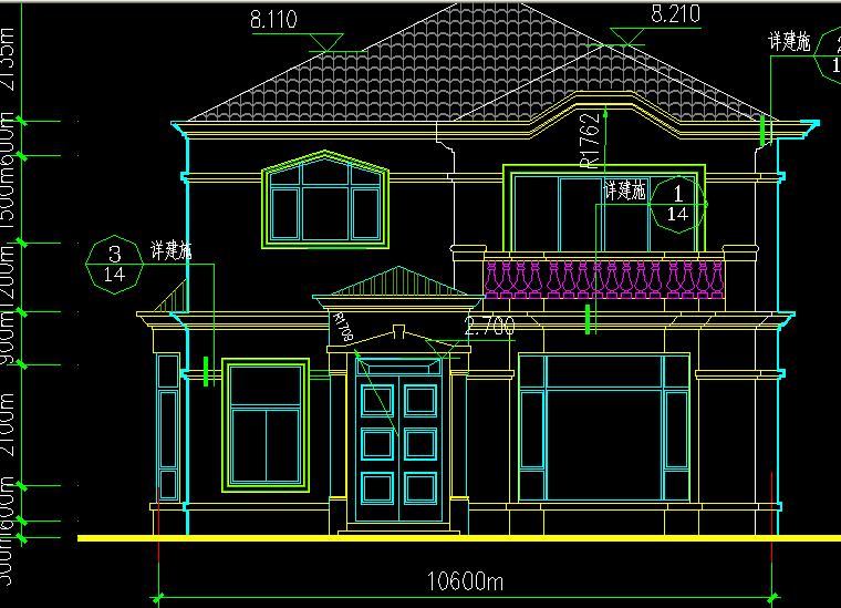 200平方米二层乡村小别墅农村建房造型图,别墅设计,,.