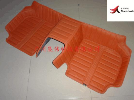 完成的汽车脚垫新产品的设计开发和批量生产