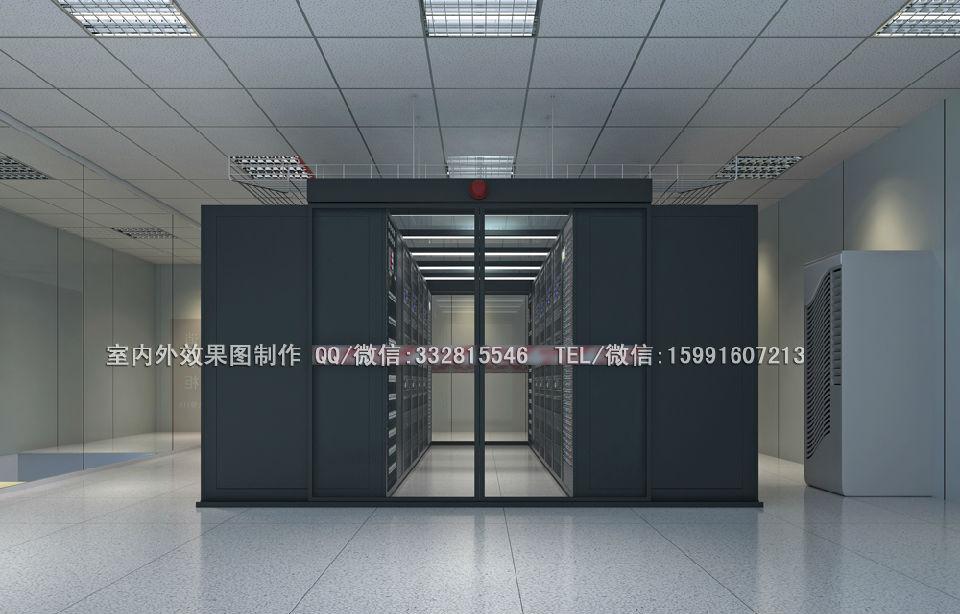 汉中市勉 县南京机房装修效果图制作指挥中心效果图设计