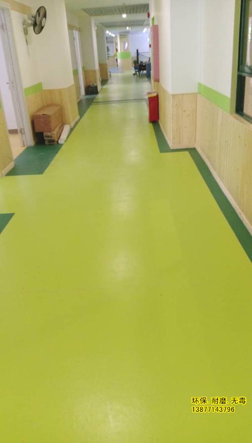 南宁通过环保检测的幼儿园教室纯色pvc地胶