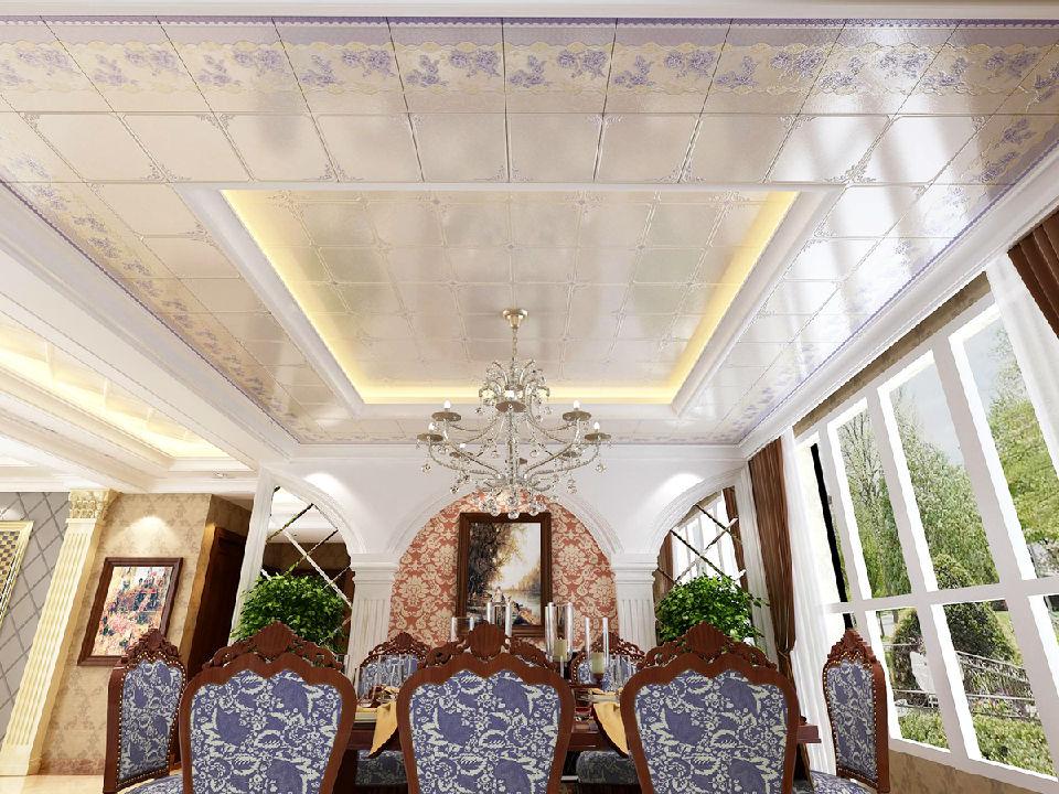 蓝芙蓉中花集成吊顶 办公室酒店天花板 餐厅艺术吊顶