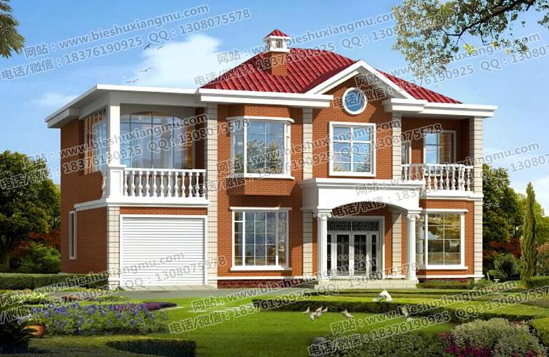 16×10米二层欧式小户型自建房带车库别墅施工方案