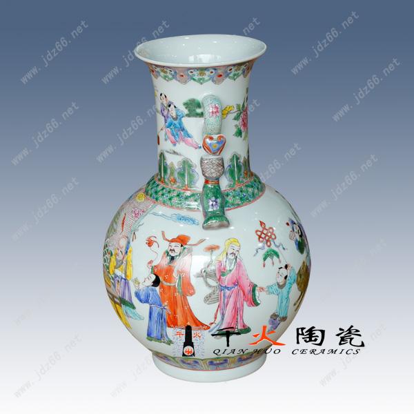 景德镇陶瓷器 大师手绘陶瓷花瓶 现代时尚家居装饰品