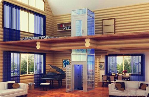 上海市市辖区徐汇区无机房别墅电梯(螺杆式别墅电梯)复式楼家用升降图片