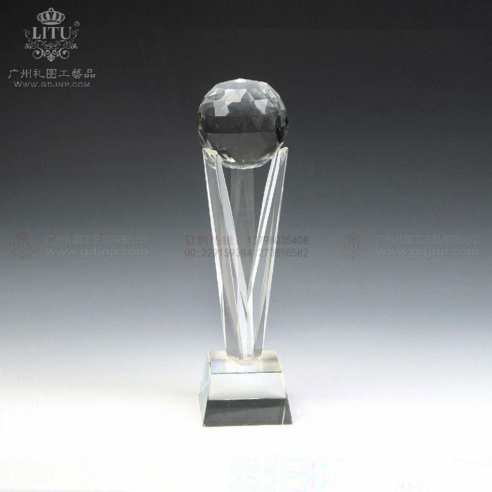 周年纪念品,高尔夫球水晶奖杯,优秀员工水晶奖杯-广州市礼图工艺品